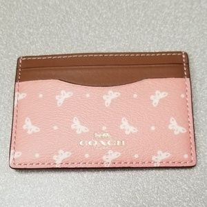 Coach Credit Card Case w/Butterfly Print